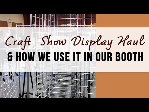 Craft fair and trade show display haul- how we use our new booth stands and shelves - display ideas