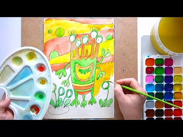 3 клас. Мистецтво. Малюємо фантастичного інопланетянина на фантастичній інопланетній планеті
