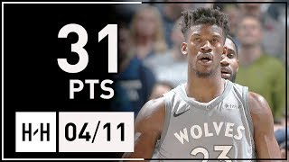 Jimmy Butler Full Highlights Wolves vs Nuggets (2018.04.11) - 31 Pts, CLUTCH FTs!
