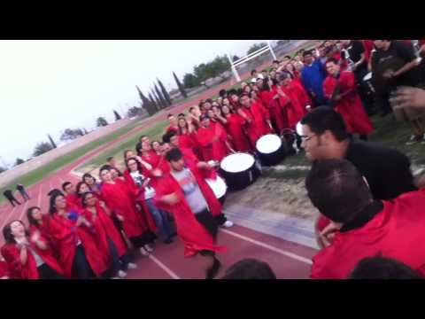Bel Air High School drumline performing at senior farewell '12