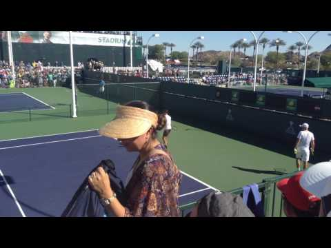 Roger Federer Practice at Indian Wells 2017