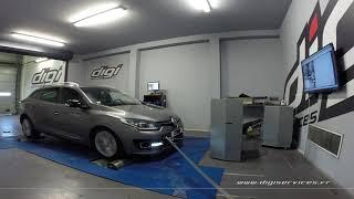Renault Megane 3 1.2 TCE 115cv Reprogrammation Moteur @ 128cv Digiservices Paris 77 Dyno