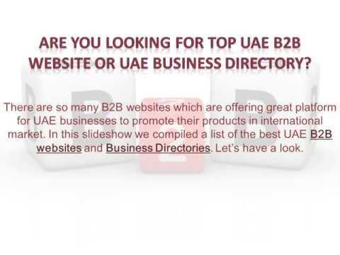 Top UAE B2B Websites and Business Directories - YouTube