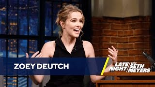 Zoey Deutch Shaved Her Armpits in Front of Walter White