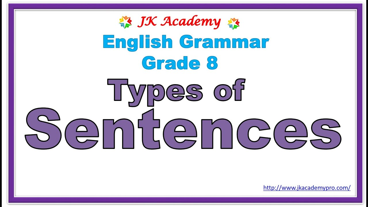 hight resolution of types of sentences grade 8   what is a sentences grade 8   types of  sentences class 8   sentences - YouTube