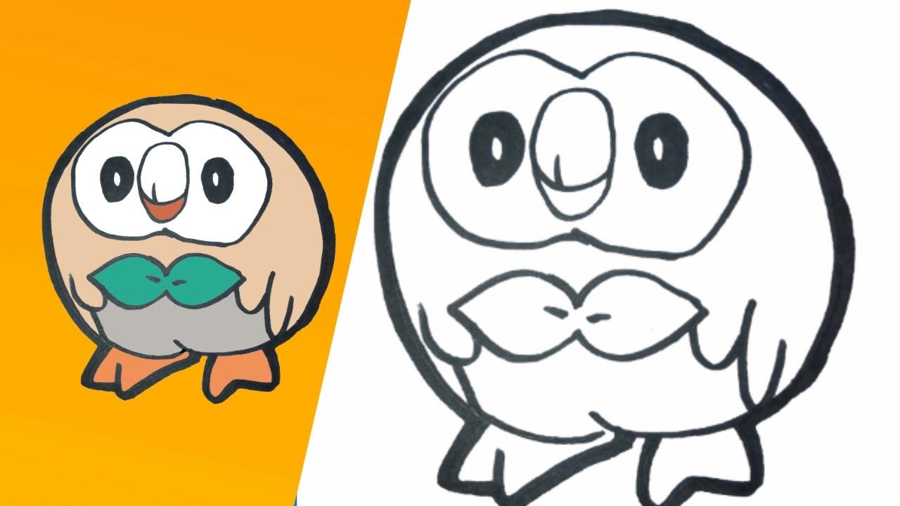 Putty Line Drawing Q : Como dibujar a rowlet paso how to draw