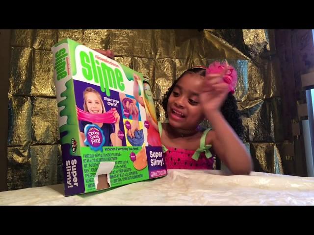 How To Make Slime Using Nickelodeon Slime Kit - Kylie Madison