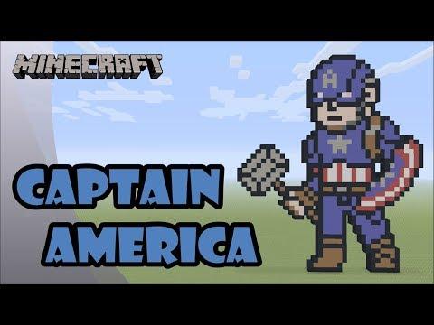 Minecraft: Pixel Art Tutorial and Showcase: Captain America (Avengers: Endgame) thumbnail