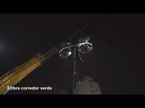 Cruce Medrano: así se construye el nuevo espacio verde sobre las vías del Ferrocarril Sarmiento