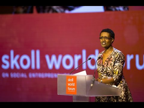 Winnie Byanyima speaking at the Skoll World Forum #SkollWF 2017