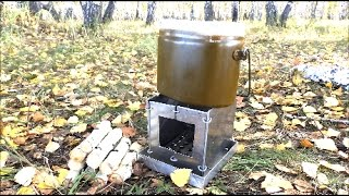 Печка щепочница своими руками универсальная многоцелевая раскладная.Варка,жарка, копчение,гриль.