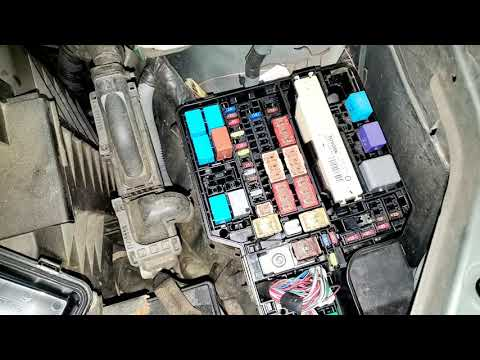 Toyota Sienna 2012 Ac Fuse And Relay Youtube