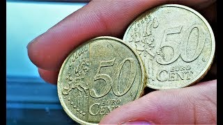 50 euro cent Belgium France Germany Italy Portugal Spain Finland coin 1999 2000 2001 2002 2003 2009