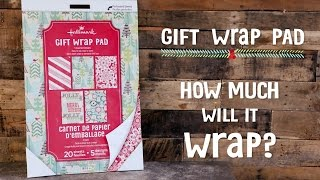 How Much Will Hallmark Gift Wrap Sheets Wrap?