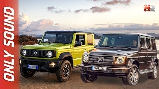 SUZUKI JIMNY 2019 VS MERCEDES CLASSE G - TEST DRIVE ONLY SOUND
