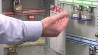 Securikey 'system' 24 Hook Padlock Cabinet - Key Locking