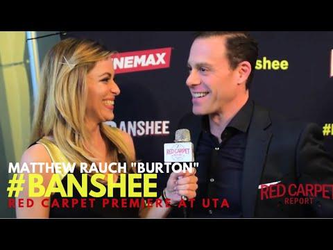 """Matthew Rauch """"Burton"""" interviewed at the Season 4 Premiere for Cinemax' Banshee #Banshee"""