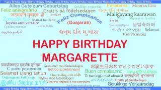 Margarette   Languages Idiomas - Happy Birthday