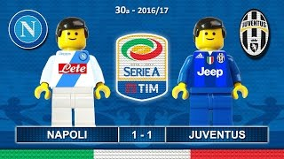 Napoli Juventus 1-1 • Serie A 2017 (02/04/2017) goal highlights Lego Calcio • Napoli Juve