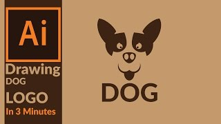 How to Draw a Dog Logo in 3 Minutes in adobe illustrator - (Brand Identity Creation 01 )