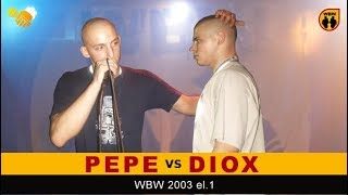 PEPE vs DIOX  WBW 2003  Warszawa (eliminacje 1) Freestyle Battle