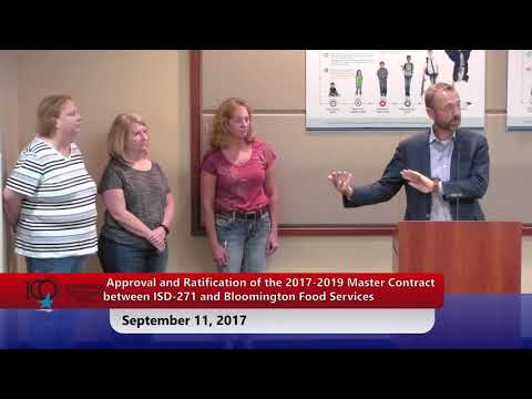 Bloomington Public Schools - School Board Meeting - September 11, 2017