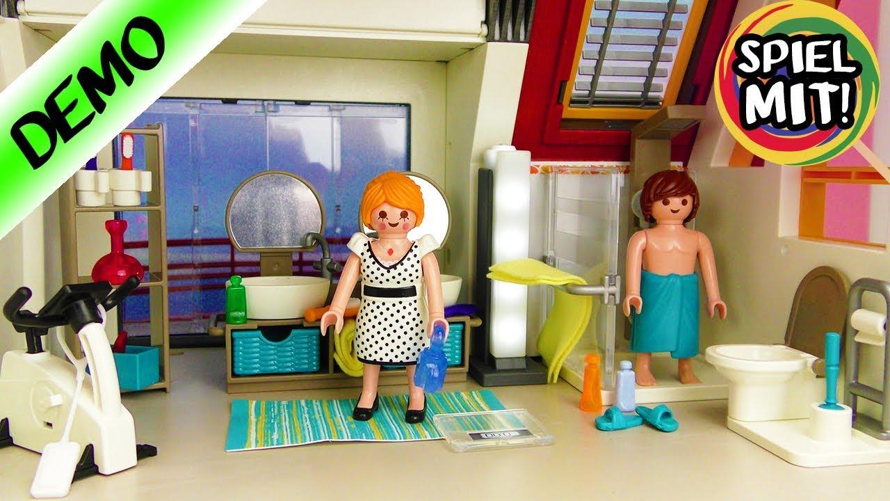 Playmobil BADEZIMMER City Life für das Moderne Wohnhaus Deutsch - Mit  moderner Dusche + Lichtsäule