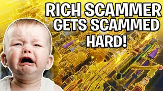 ANGRY Rich Kid Scams Himself! (Scammer Gets Scammed) Fortnite Save The World thumbnail