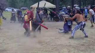 Asura vs Corsairs jugging clan 2016 amtgard