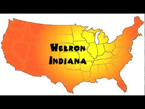 Hebron Indiana Map.How To Say Or Pronounce Usa Cities Hebron Indiana Youtube
