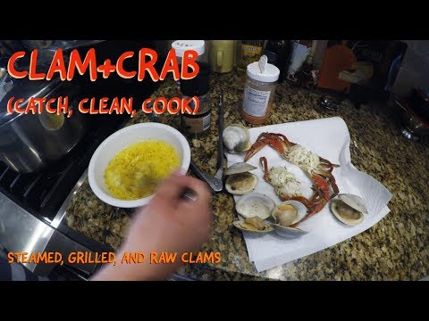 Little Neck Clam/Blue Claw Crab {Catch, Clean, Cook} + Steamed, Grilled, and Raw