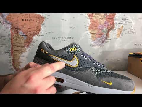 "My Bespoke Nike Air Max One ""Workman's Glove"" Grey/Yellow"