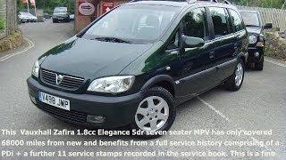 Vauxhall Zafira 1.8cc Elegance 7 seat £2000 [01825 713793]