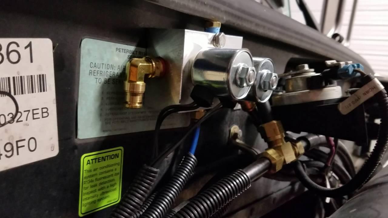Peterbilt 389 front air ride install update