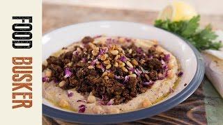 Spicy Lamb & Hummus   Food Busker