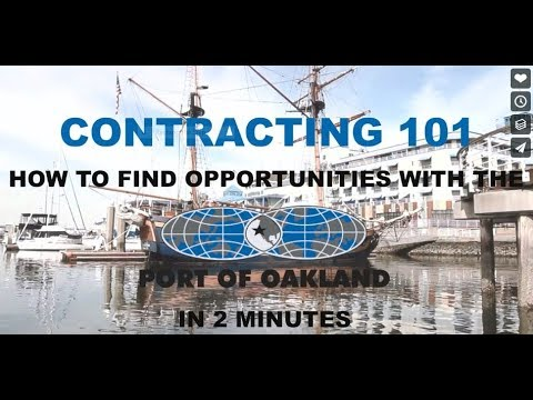 How to find business opportunities with the Port of Oakland