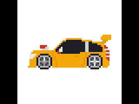 Pixel Art Logo Voiture Ferrari