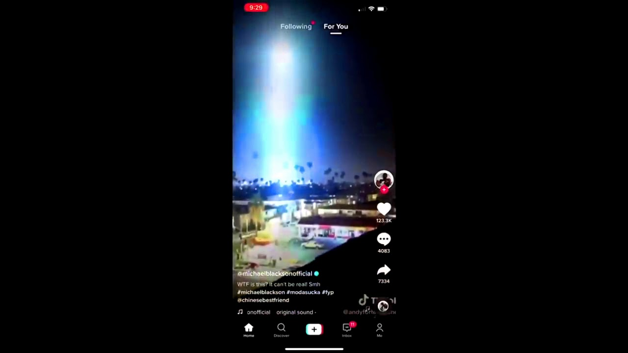 El incidente del OVNI luminoso de Tik-Tok