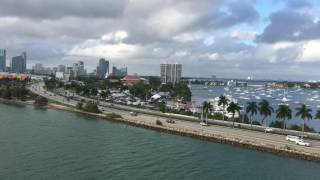 CRUISE SHIP DEPARTURE: PORT OF MIAMI DECEMBER 2016 CELEBRITY REFLECTION | Cruising With Steve