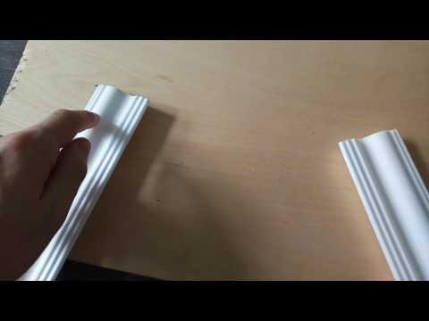 Как подрезать потолочный плинтус (для внешних углов)