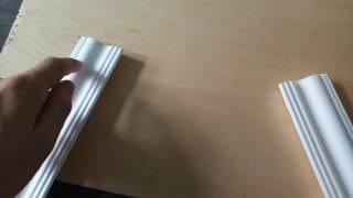 видео Как резать потолочный плинтус