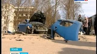 Вести-Псков 03.04.14 ДТП на Юбилейной