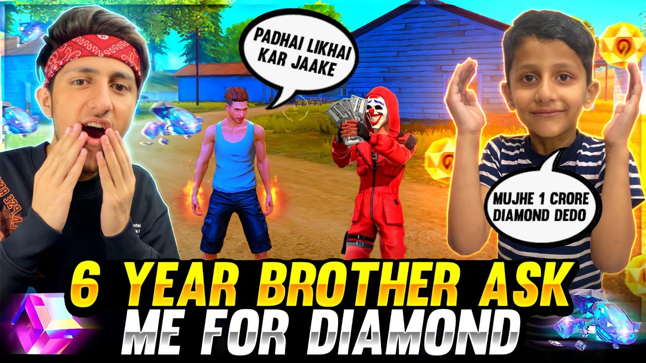 My 6 Year Brother Ask Me For Diamond Buying 12,000 Diamond 💎 All Emotes - Garena Free Fire