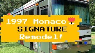 1997 Monaco Signature Series interior remodel with residential refrigerator install
