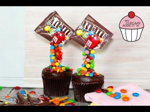 M&M's Illusion Cupcakes! Gravity Defying Cupcakes with My Cupcake Addiction