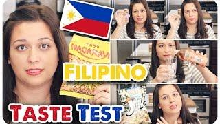 FILIPINO FOOD TASTE TEST #1 | PHILIPPINES | VIVIAN REACTS