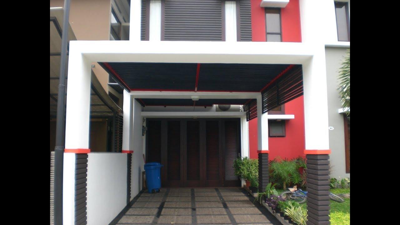 Desain garasi depan rumah moderen minimalis