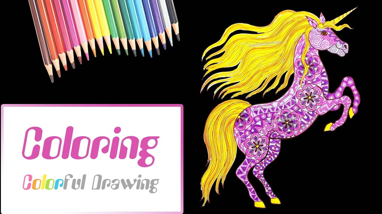 Coloriage Adulte Licorne.Speed Coloring Coloriage Pour Adultes Licorne Youtube