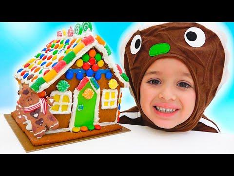 Download Vlad ve Niki oynuyormuş gibi yapar ve Gingerbread House yapar