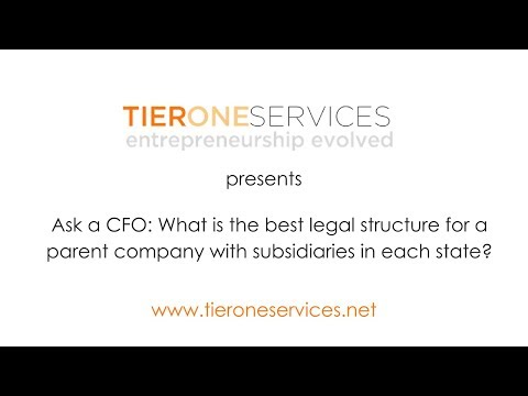 Ask a CFO: What is the best legal structure for a parent company with subsidiaries in each state?